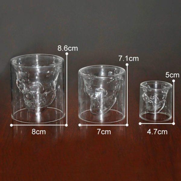 Crystal Skull Glass - Sizes