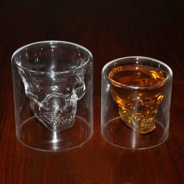 Crystal Skull Glass - filled