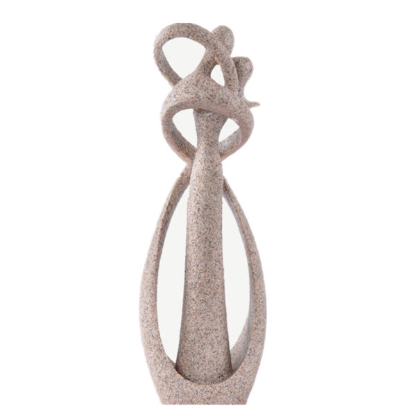 Kissing Lovers Figurine - grey - back