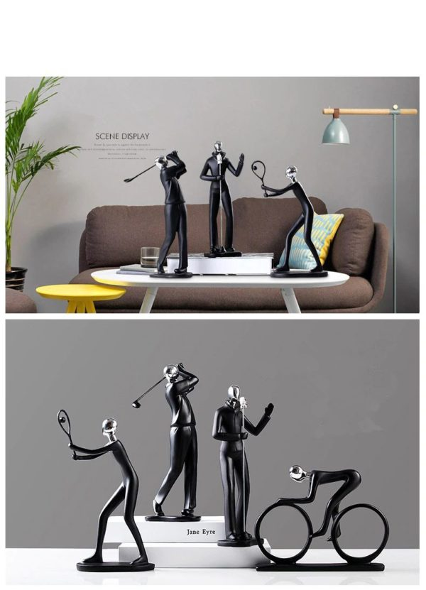 Modern Art Sportsman Figurines - 4