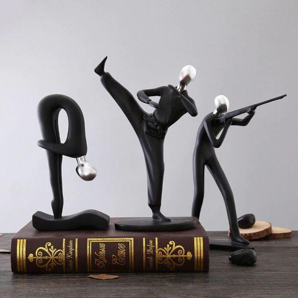 Modern Art Sportsman Figurines - 5