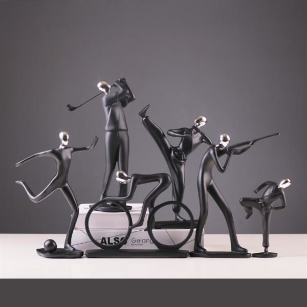Modern Art Sportsman Figurines