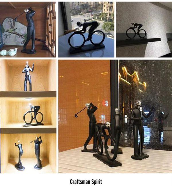 Modern Art Sportsman Figurines - 7