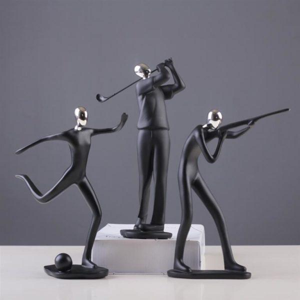 Modern Art Sportsman Figurines - Additional