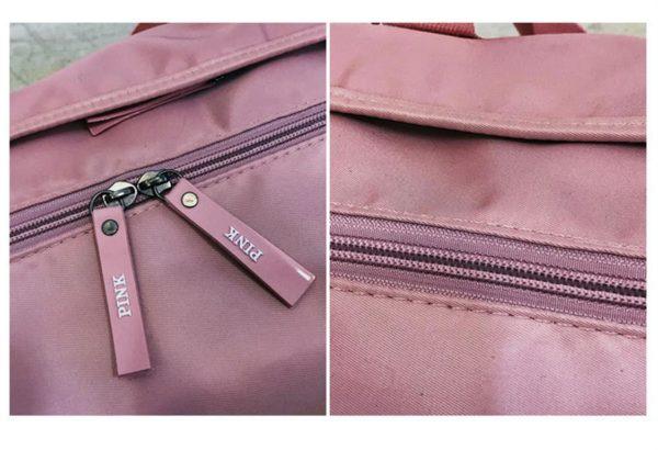 PINK Ladies Sports Bag - Zippers