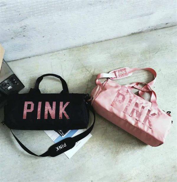 PINK Ladies Sports Bag - duo