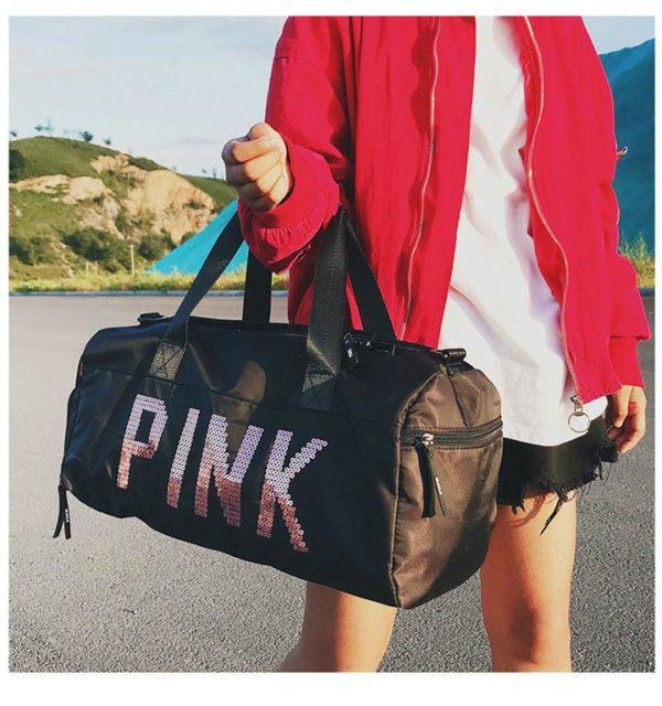 PINK Ladies Sports Bag - model black2