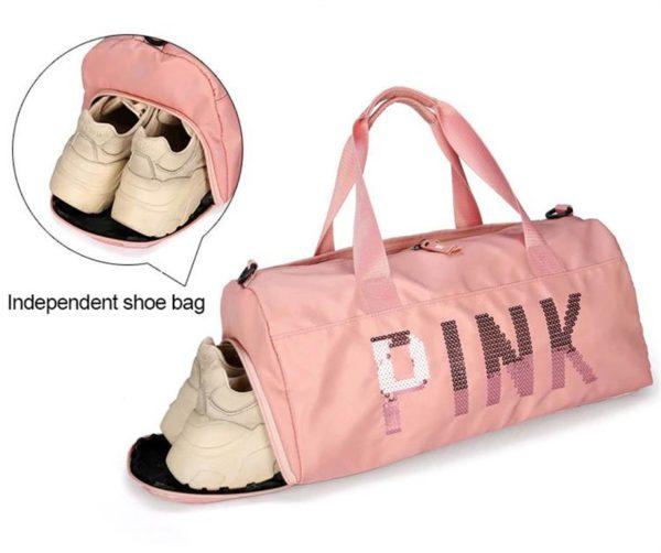 PINK Ladies Sports Bag - shoe