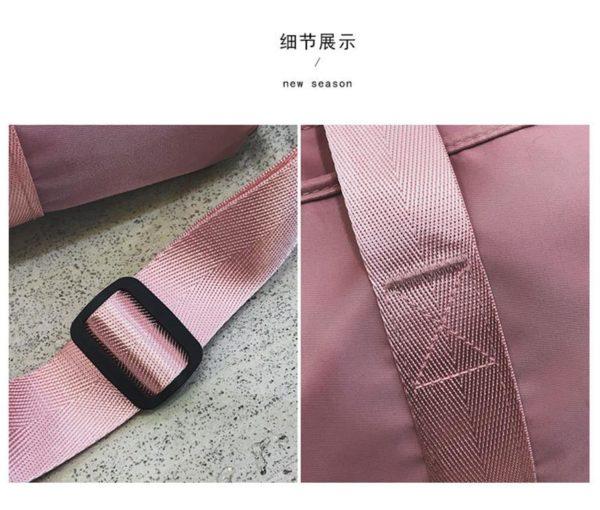 PINK Ladies Sports Bag - straps