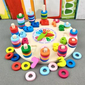 Educational - Wooden Toy Clock - Early Learning For Children - 5