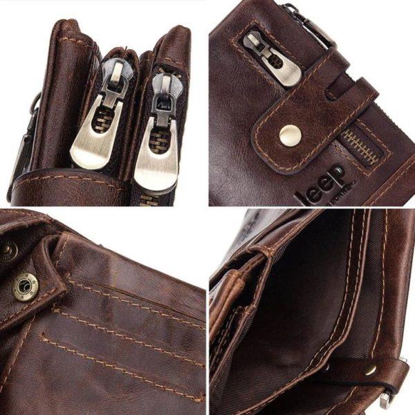 100% Genuine Leather Men Wallet - Free Engraving - Details