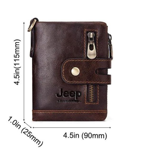 100% Genuine Leather Men Wallet - Free Engraving - Size
