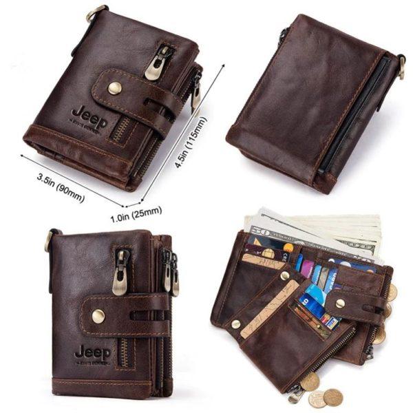 100% Genuine Leather Men Wallet - Free Engraving - Views