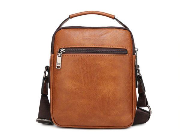 Crossbody Leather Shoulder Bag For Men - Back