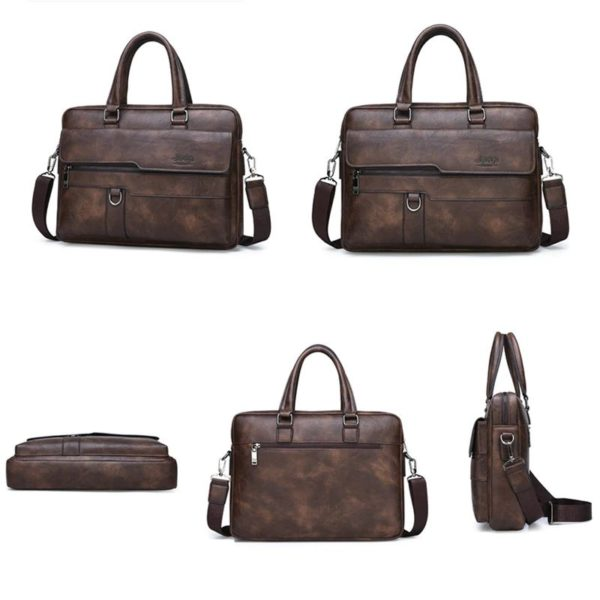 Men's Leather Business Bag - 2