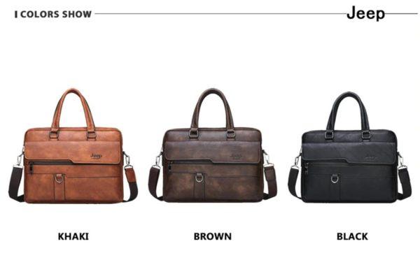 Men's Leather Business Bag - Colours