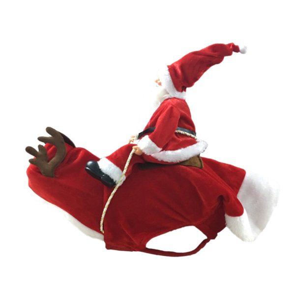 Christmas Costume For Dog - Santa Riding On Dog - 7