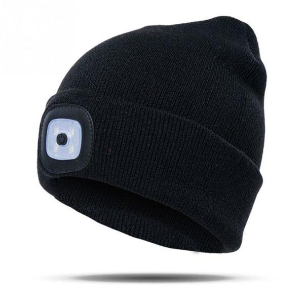 LED Winter Beanie - black