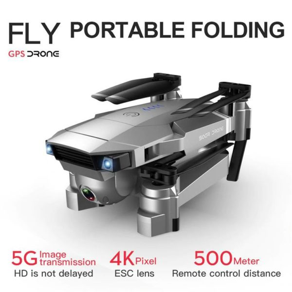 Quadcopter Drone with GPS - 4K HD Camera - 5G