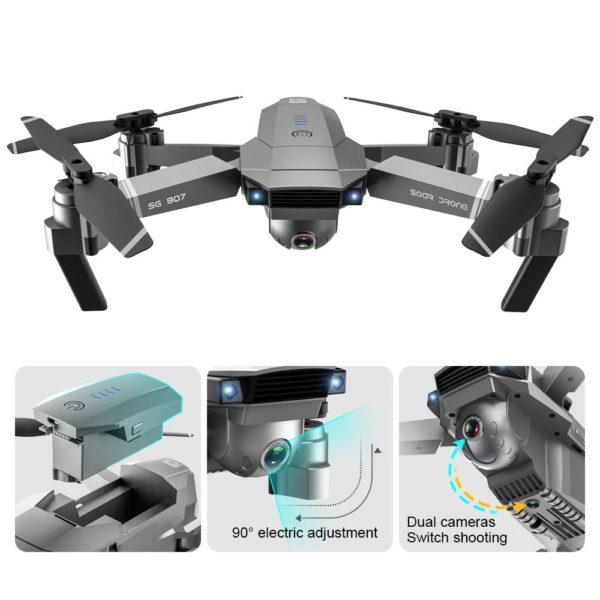 Quadcopter Drone with GPS - 4K HD Camera - Dual Cameras