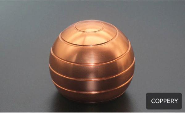 Globe Spinner - Kinetic-Desktop-Toy-Coppery
