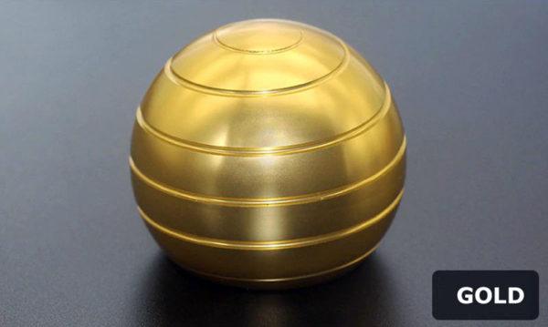 Globe Spinner - Kinetic Desktop Toy - gold