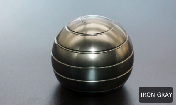 Globe Spinner - Kinetic-Desktop-Toy-iron-gray