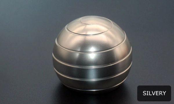 Globe Spinner - Kinetic-Desktop-Toy-silvery