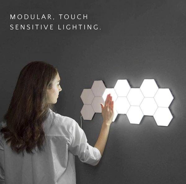 Modular Hexagonal Touch Sensitive Lighting System - 1
