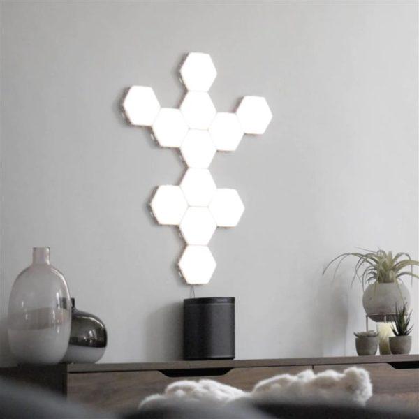 Modular Hexagonal Touch Sensitive Lighting System - 10