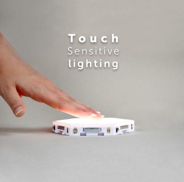 Modular Hexagonal Touch Sensitive Lighting System - 3