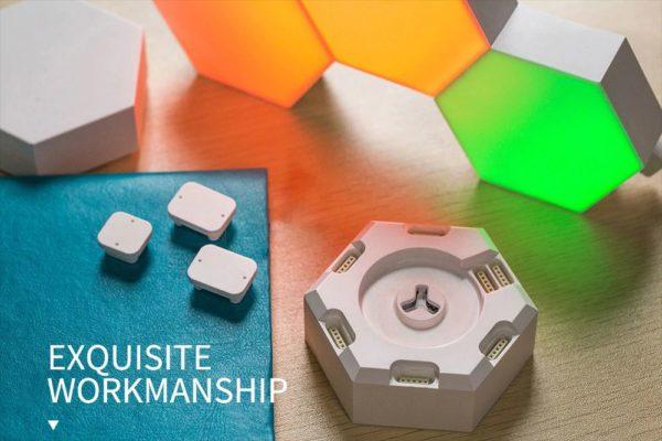 Smart Quantum Lamp – Modular Hexagonal Touch Sensitive Lighting System - 3