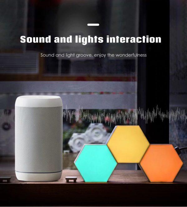 Smart Quantum Lamp – Modular Hexagonal Touch Sensitive Lighting System - 5