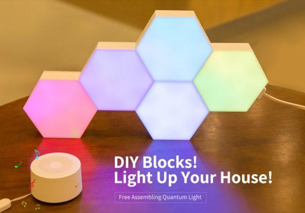 Smart Quantum Lamp – Modular Hexagonal Touch Sensitive Lighting System