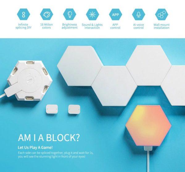 Smart Quantum Lamp – Modular Hexagonal Touch Sensitive Lighting System - Block