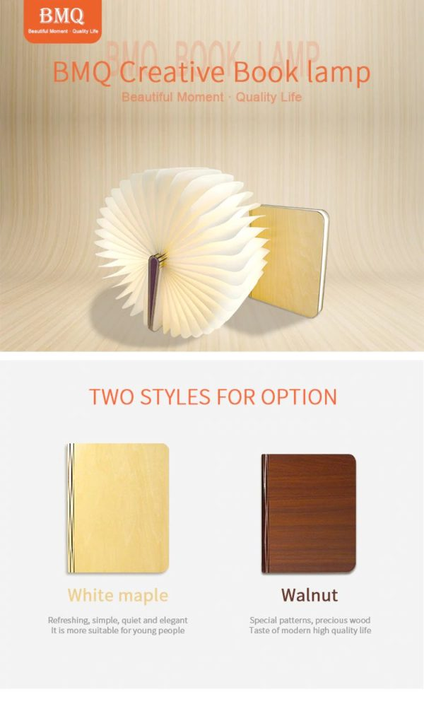 Wooden Book LED Lamp - 5