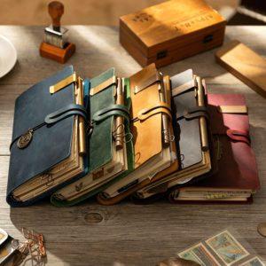 Handmade Vintage Leather Traveler Notebook