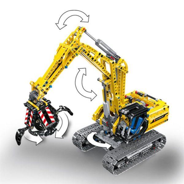Motorized Excavator - Building Blocks - 4