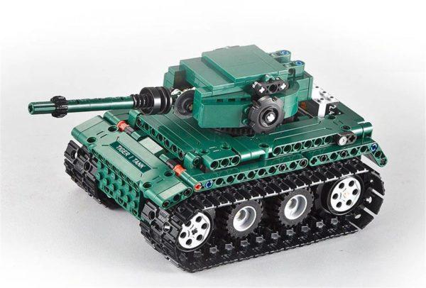 Motorized WW2 German Tiger 1 Tank - Building Blocks - 9