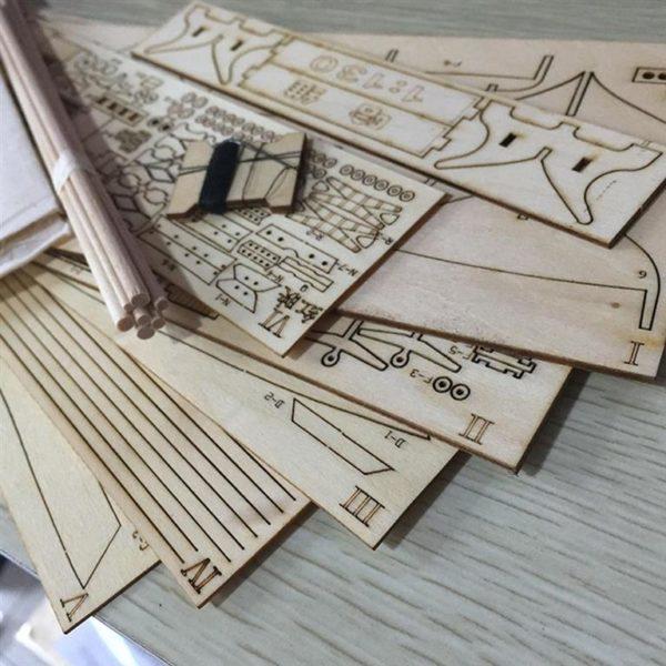 Wooden Sail Ship Building Kit - Hobby-Close-Up