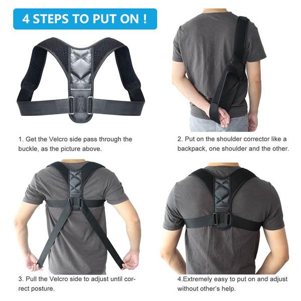 Adjustable Back Posture Corrector-7