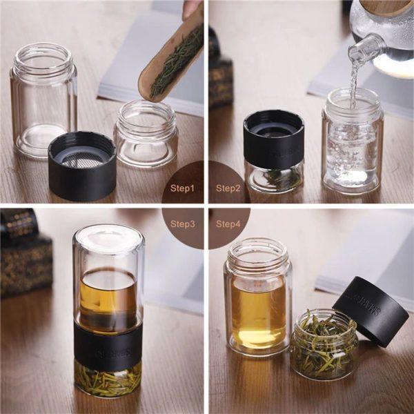 Glass Tea Infuser-Steps