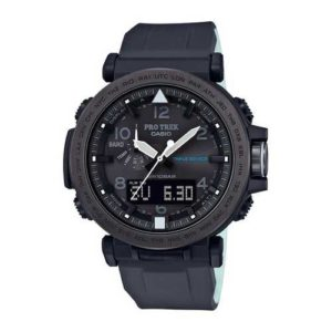 Casio Mens PRO TREK Quartz Resin and Silicone Casual Watch