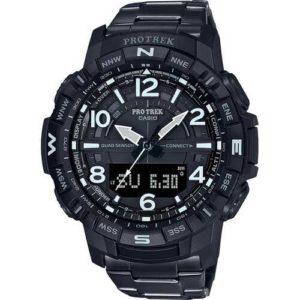 Casio Men's Pro Trek Black Ion Plated Titanium Watch