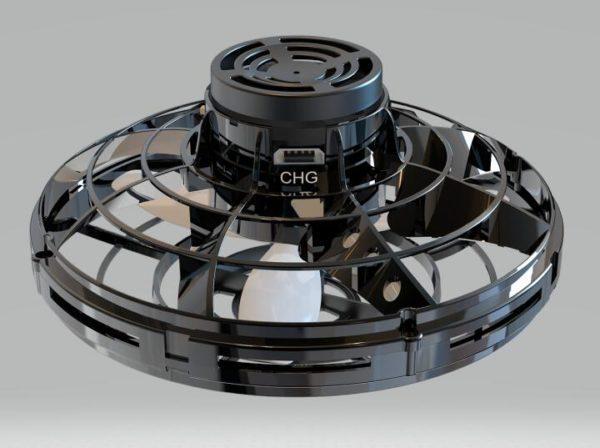 Flying Spinner Toy - black