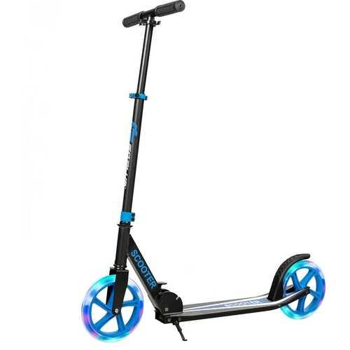 Portable Folding Sports Kick Scooter - Blue 2