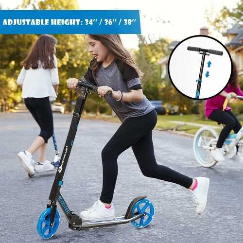Portable Folding Sports Kick Scooter - Blue 3