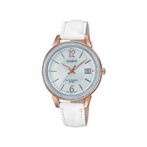 Casio Women's White Leather Bracelet Watch