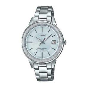 Casio Women's Silver-Tone Stainless Steel Bracelet Watch