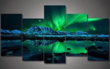 Northern Lights 5 Piece Canvas 1